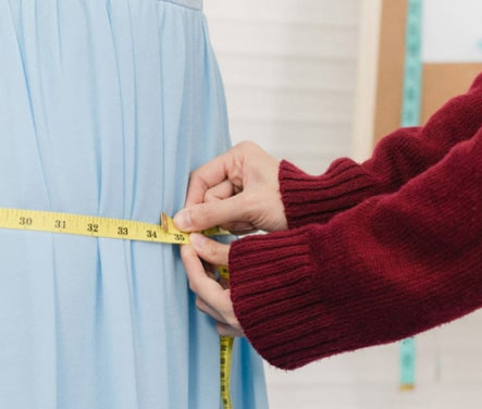 clothes measured with precision